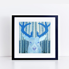 The stag limited edition fine art giclee print