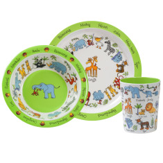 Tyrrell Katz jungle animals melamine dinner set