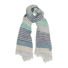 Seaside stripe cotton scarf