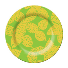French Bull side plate in isis green pattern