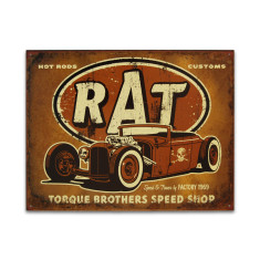 Torque Rat Rod Sign
