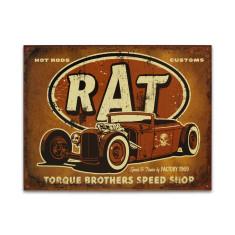 Torque Rat Rod Sign