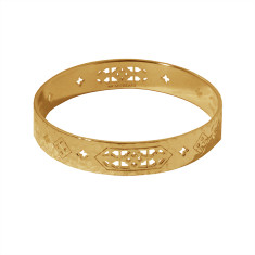 Jaipur Bangle in 18 KT Yellow Gold Plate