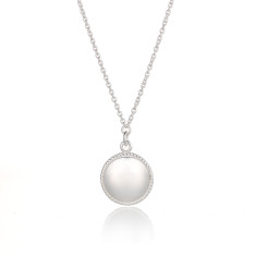 Sterling Silver Full Moon Phase Necklace