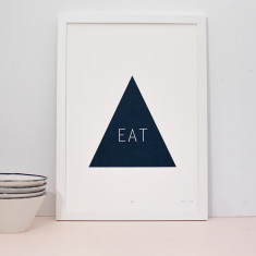 Eat screenprint on paper
