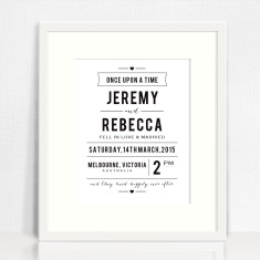 Once Upon A Time Personalised Wedding Print