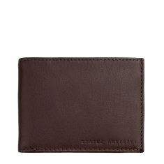 Noah leather wallet in chocolate