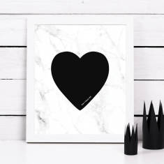 Personalised Marble Heart Print
