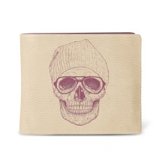 Cool Skull Vegan Leather Men's Wallet