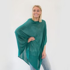 Bamboo poncho in sea green