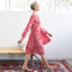 Imogen ruby tiered dress