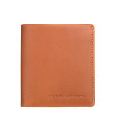 Merv leather wallet in camel