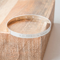 Men's Personalised Large Flat Bangle