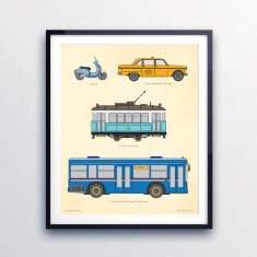 Kids' transport print