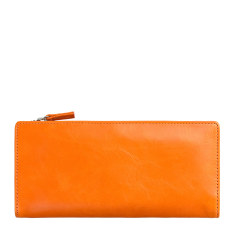 Dakota leather wallet in orange