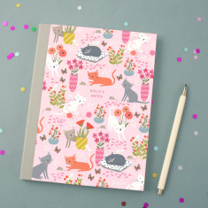 Personalised Cat Pattern Notebook