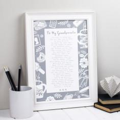 Grandparent poem letter to grandparents personalised print