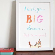 I wish you big dreams art print
