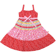 Holiday candy heart dress