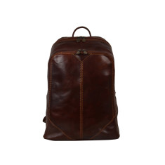 Dalton Brown Leather Backpack