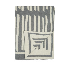 Lines cotton knit throw