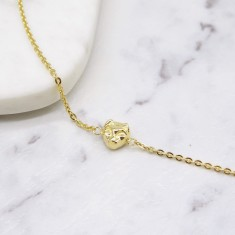 Cat chain bracelet gold