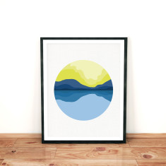 Modern landscape limited edition giclee print