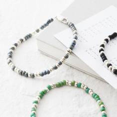 Men's Morse Code Bead Bracelet