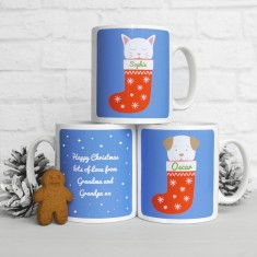 Personalised Fido or Frida Christmas Stocking Mug