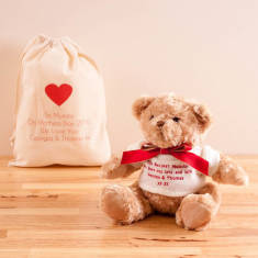 Personalised Teddy Bear And Gift Bag