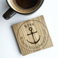 Personalised anchor coaster