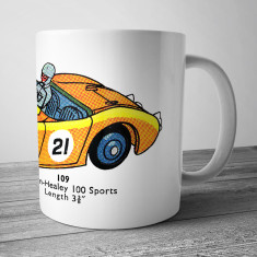 Austin-Healey racing car mug