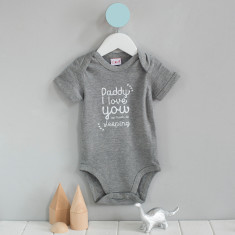 Father's Day I love you as much as ... Babygrow