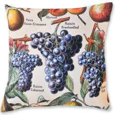 Grapes linen cushion cover