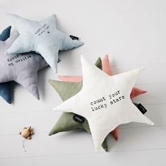 Star shaped Count you lucky Stars Cushion