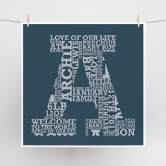 Slab Letter Word Art Print