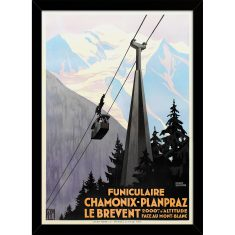 Funiculaire Mont-Blanc Print