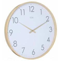 Erika Wooden SILENT SWEEP Wall Clock 51cm by Toki