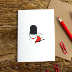 Queen'S Guard greeting card (pack of 6)