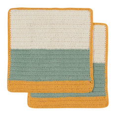 Sasha crochet dishcloth in honey (set of 2)