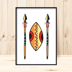 Jungle spears art print (various sizes)
