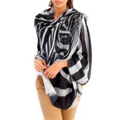 Cashmere Zebra Printed Scarf