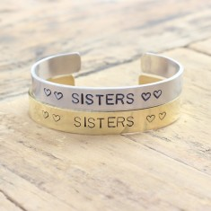 Sisters bracelets (set of 2) (various metal colours)