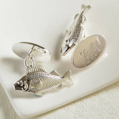 Personalised Fish Cufflinks