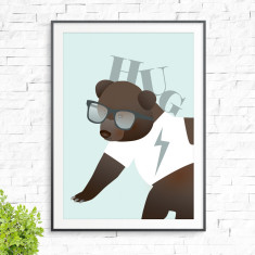 Bear hug print (various colours)