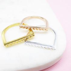 Mini Stud U Ring (various colours)