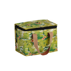 Insulated lunch box bag in Retro Palm Print