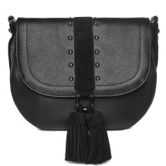 IL TUTTO LANA LEATHER HANDBAG IN BLACK