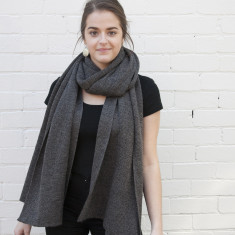 Merino wool oversized wrap