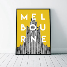 Melbourne wall art print